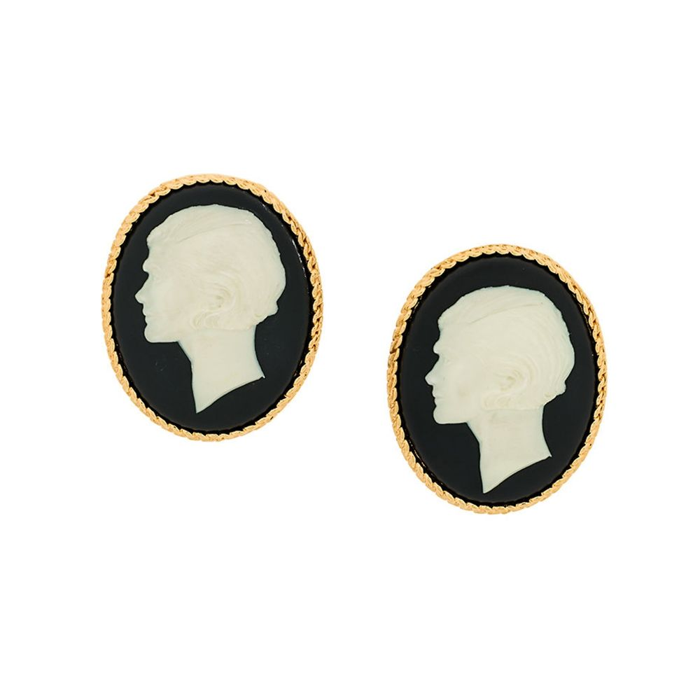 chanel portrait earrings