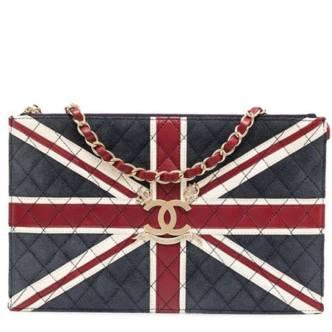 Chanel Paris London Union Jack Leather Bag