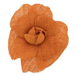 Chanel Orange Camelia Brooch