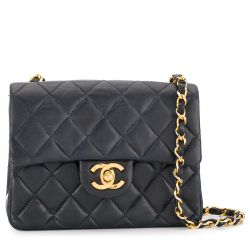 Chanel Navy Leather Crossbody Bag