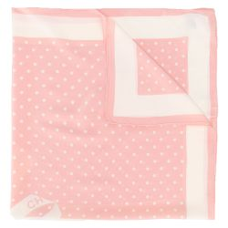 Chanel Pink Polka-dot Ribbon Scarf