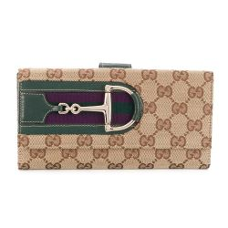Gucci Monogram Canvas Continental Wallet