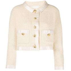 Chanel Cream Tweed Crop Jacket