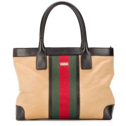 Gucci Web Striped Canvas Shopper Bag SOLD