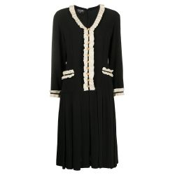 Chanel Black Ruffled Dress SOLD