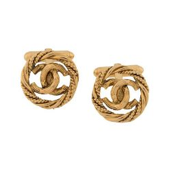 Chanel Gold Knot Cufflinks