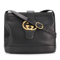 Gucci Black Leather GG Shoulder Bag SOLD