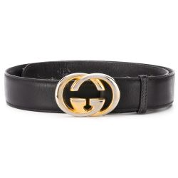 Gucci Black GG Buckle Belt