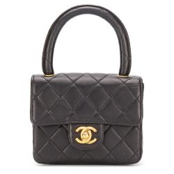Chanel Black Leather Mini Kelly Flap Bag