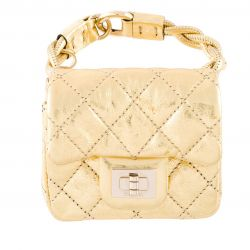 Chanel Vintage Quilted Wristlet