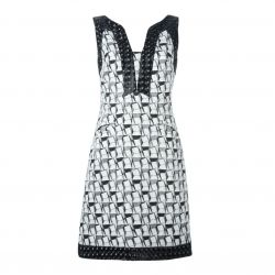 Chanel Geometric Jacquard Dress