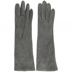 Yves Saint Laurent Rive Gauche Grey Suede Gloves