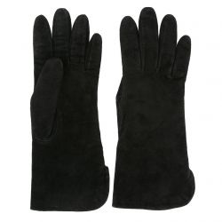 Yves Saint Laurent Rive Gauche Black Suede Gloves