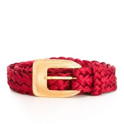 Yves Saint Laurent Rive Gauche Red Belt
