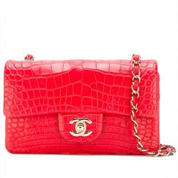 Chanel Red Crocodile 2.55 Classic Flap Handbag