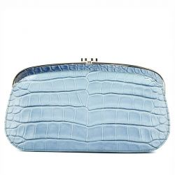 Chanel Blue Ombre Crocodile Leather Clutch