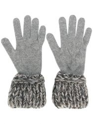 Chanel Contrast Knit Gloves