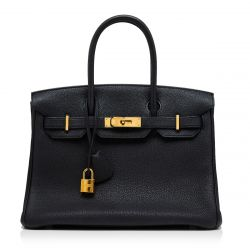 Hermès Black 30cm Birkin Bag