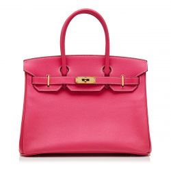 Hermès Rose Tyrien 30cm Birkin Bag SOLD