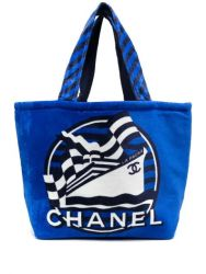 Chanel Terry Blue Double Sided Beach Set