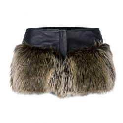 Chanel Faux-Fur Shorts