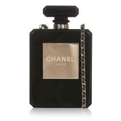 Chanel Black No5 Bottle Minaudière