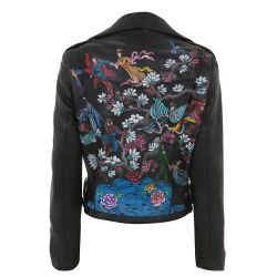 "Customised ""Chinese Superhero's"" Vintage Leather Jacket"