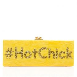 Edie Parker Yellow Hot Chick Clutch Bag
