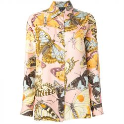 Gucci Vintage Silk Butterfly Shirt