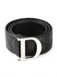 Dior Quilted Leather Logo Belt