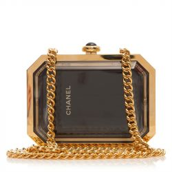 Chanel Gold and Black Transparent Box Bag SOLD