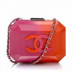 Chanel Pink and Orange Box Bag *CALL FOR PRICE*