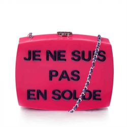 Chanel Pink Plexiglass Equation Bag *CALL FOR PRICE*