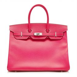 Hermes Hot Pink Scheherazade Epsom Leather Birkin 32cm