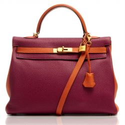 Hermes Rubis and Orange Kelly 35cm