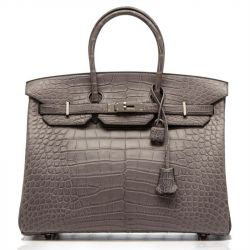 Hermes Gris Paris Alligator Birkin 35cm SOLD