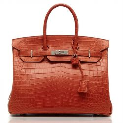 Hermes Orange Niloticus Crocodile Birkin 35cm