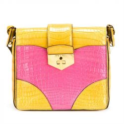Prada Colour Block Crocodile Handbag