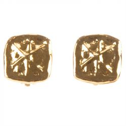 Christian Lacroix Hammered Earrings