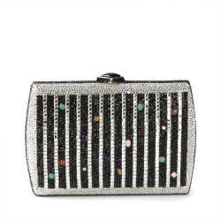 Judith Leiber Crystal Minaudiere Bag with Cabochons