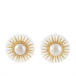 Chanel Sun Clip-on Earrings