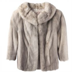1950's Silver Mink Fur Coat