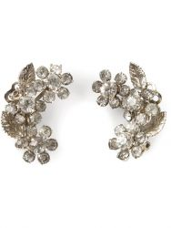 1950's Vintage Clip-On Floral Earrings