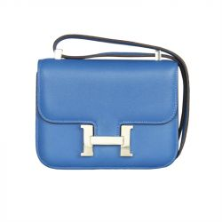 Hermes Blue Micro Constance Bag SOLD from Rewind Vintage