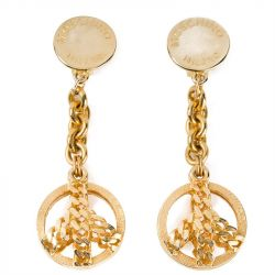 Moschino Vintage Drop Peace Earrings