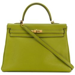 Hermes Vert Anis Togo Leather 35cm Kelly Bag