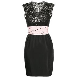 Chanel Strapless Lace Cocktail Dress