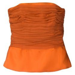 Yves Saint Laurent Orange Chiffon Top