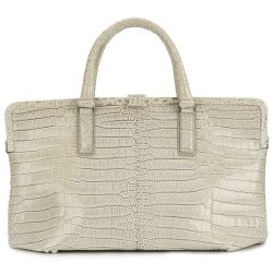 Bottega Veneta Beige Crocodile Handbag