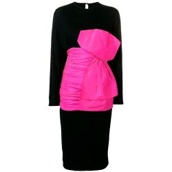 Vintage 1980s Angelo Tarlazzi Bow Dress